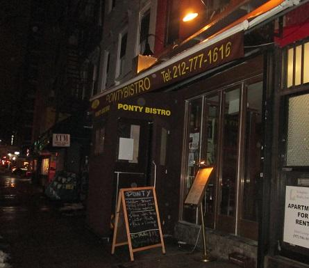 Ponty Bistro restaurant New York city